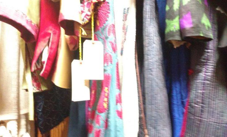 Handcrafted wearable fabrics at Suzy Baker Design/Naomi Reichstein photo