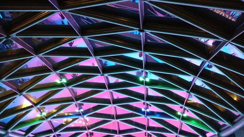 Skylight of Robson Square skating rink/Naomi Reichstein photo