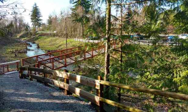 Daylighting of Padden Creek, with bridge access to the Interurban/Naomi Reichstein photo
